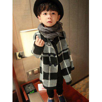 Kids Color Block Double Breasted Jacquard Cardigan