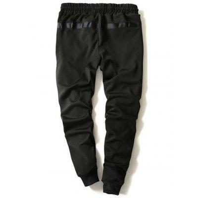 Drawstring Zip Stripe Embellished Beam Feet Jogger PantsMens Pants<br>Drawstring Zip Stripe Embellished Beam Feet Jogger Pants<br><br>Closure Type: Drawstring<br>Fit Type: Regular<br>Front Style: Flat<br>Material: Cotton Blends, Polyester<br>Package Contents: 1 x Pants<br>Pant Length: Long Pants<br>Pant Style: Jogger Pants<br>Style: Casual<br>Waist Type: Mid<br>Weight: 0.4690kg<br>With Belt: No