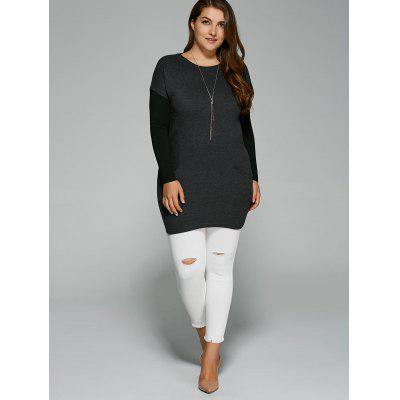 Plus Size Pockets Design Twinset T-ShirtPlus Size Tops<br>Plus Size Pockets Design Twinset T-Shirt<br><br>Collar: Round Neck<br>Material: Cotton Blends, Polyester<br>Package Contents: 2 x T-Shirt<br>Pattern Type: Solid<br>Season: Spring, Winter, Fall<br>Shirt Length: Long<br>Sleeve Length: Full<br>Style: Casual<br>Weight: 0.473kg