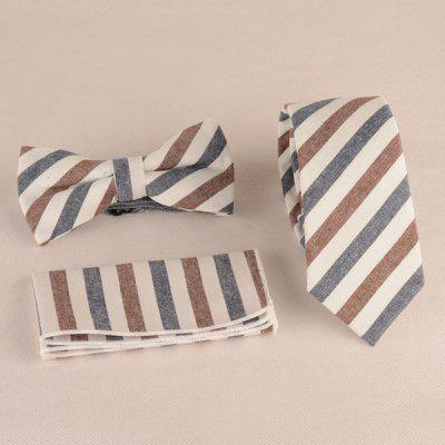 Tie Pocket Square and Bow Tie