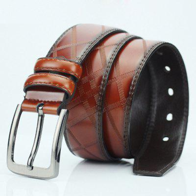 Pin Buckle PU Casual Plaid BeltMens Belts<br>Pin Buckle PU Casual Plaid Belt<br><br>Belt Length: 110 CM<br>Belt Material: PU<br>Belt Silhouette: Wide Belt<br>Belt Width: 3.8 CM<br>Gender: For Men<br>Group: Adult<br>Package Contents: 1 x Belt<br>Pattern Type: Geometric<br>Style: Casual<br>Weight: 0.208kg