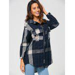 Checked Vintage Linen Shirt - BLUE