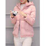 cheap Slim Pocket Design Hooded Puffer Jacket