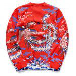 cheap Phenix Printed Long Sleeve Crew Neck Sweatshirt