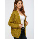 cheap Cable Collarless Cardigan