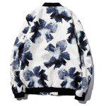 Textured Zip-Up Floral Printed Jacket deal