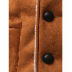 best Shawl Collar Patch Pocket Plush Lining Longline Coat
