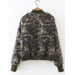 cheap Camouflage Print Padded Flying Jacket