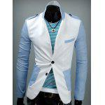 Spallina design Patch tasca posteriore Vent Two Tone Blazer - BIANCO LATTE