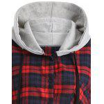 Hooded Plaid Button Up Coat deal