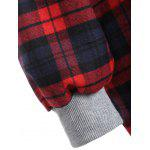 best Hooded Plaid Button Up Coat
