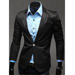 Notch risvolto Breasted Pocket One-Button Blazer - NERO