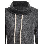 Color Block High Neck String Sweatshirt deal