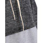 Color Block High Neck String Sweatshirt photo