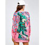 Long Cartoon Loose Sweatshirt for sale