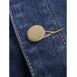 Pockets Embellished Turn-Down Collar Denim Jecket deal