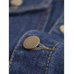 Pockets Embellished Turn-Down Collar Denim Jecket for sale