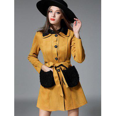 Single Breasted Long Belted Coat
