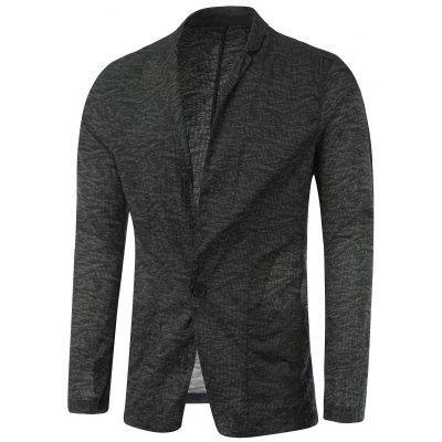 Notch Lapel Casual Texture One-Button Blazer