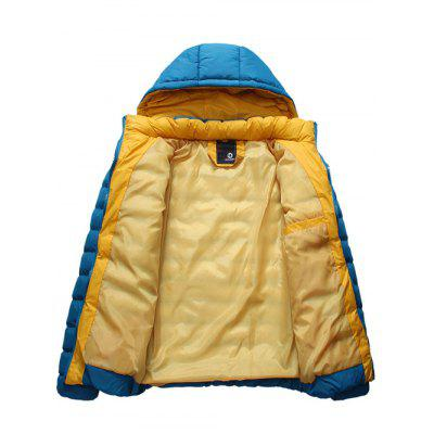 Detachable Hooded Zip-Up Thicken Padded Jacket floral print zip up stand collar padded jacket