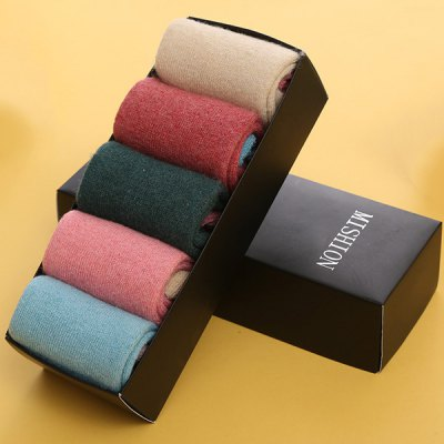 Pure Color One Set Flanging Thicken Socks