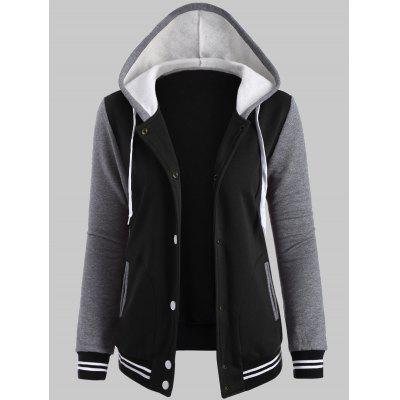 Baseball Fleece Hoodie Jacket