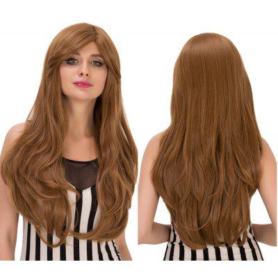 Buy DARK ASH BLONDE Sparkling Slightly Curled Long Dark Ash Blonde Side Bang Synthetic Wig For Women for $25.71 in GearBest store