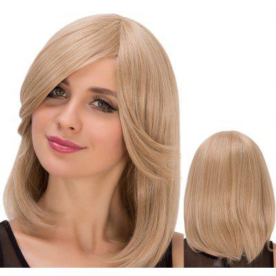 Buy DARK ASH BLONDE Straight Medium Light Dark Ash Blonde Side Bang Women's Fascinating Synthetic Wig for $17.70 in GearBest store