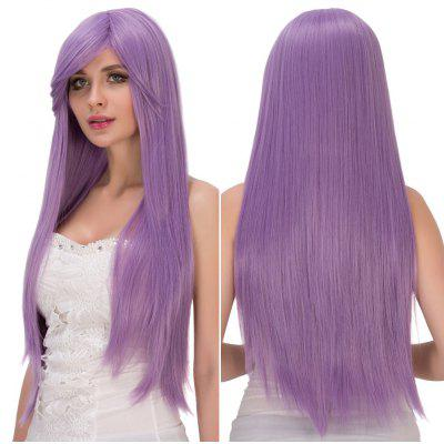 Fresh Light Purple Long Side Bang Straight Film Character Cosplay Wig