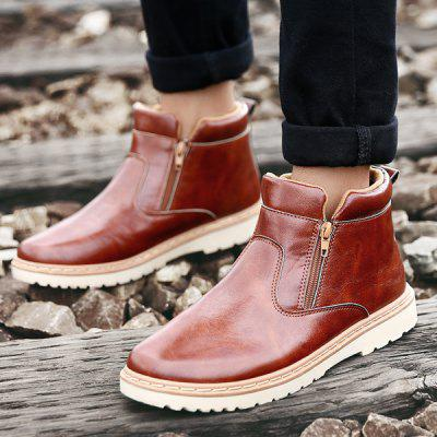 """Double Zips PU Leather Ankle BootsMens Boots<br>Double Zips PU Leather Ankle Boots<br><br>Boot Height: Ankle<br>Boot Type: Fashion Boots<br>Closure Type: Zip<br>Embellishment: None<br>Gender: For Men<br>Heel Hight: Flat(0-0.5"""")<br>Heel Type: Flat Heel<br>Outsole Material: Rubber<br>Package Contents: 1 x Boots (pair)<br>Pattern Type: Solid<br>Season: Spring/Fall, Winter<br>Shoe Width: Medium(B/M)<br>Toe Shape: Round Toe<br>Upper Material: PU<br>Weight: 1.120kg"""