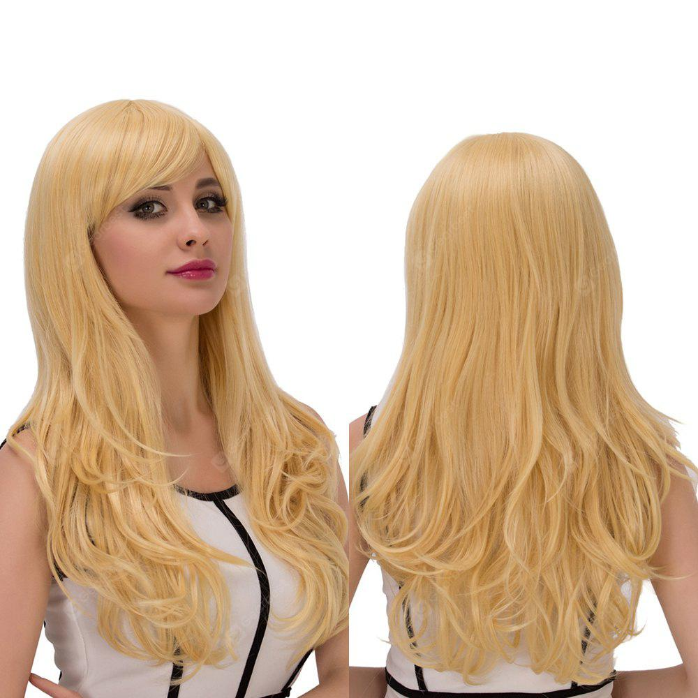Long Wavy Side Bang High Temperature Fiber Wig