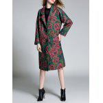 Floral Lapel Woolen Coat deal