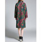 Floral Lapel Woolen Coat for sale