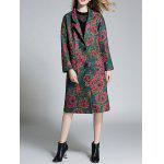 cheap Floral Lapel Woolen Coat