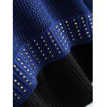 Plus Size Studded Openwork Maglieria - BLU VIOLACEO