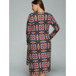 Plus Size Tribal Print High-Low Dress deal