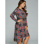 Plus Size Tribal Print High-Low Dress for sale