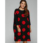cheap Side Slit Big Polka Dot Plus Size Dress