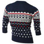 cheap Crew Neck Geometric Pattern Long Sleeve Sweater