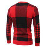 Slim-Fit Crew Neck Plaid Sweater deal