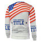 cheap American Flag Letters Print Long Sleeve Sweatshirt