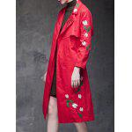 Floral Embroidered Side Slit Trench Coat deal