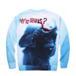 3D Clown Blood Hands Printed Long Sleeve Halloween Sweatshirt - COLORMIX