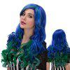 Faddish Colorful Long Side Parting Wavy Film Character Cosplay Wig - COLORMIX
