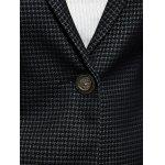 best Ruffled Spliced Plaid Blazer