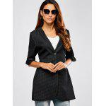 cheap Ruffled Spliced Plaid Blazer
