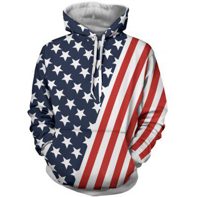 Hooded Stripes and Stars Patterned Hoodies
