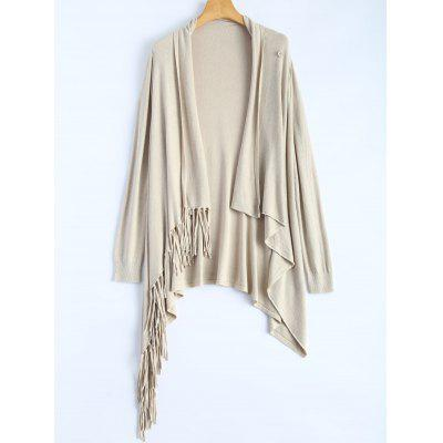 Tassel Edge Knit Cardigan