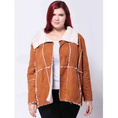 Faux Suede Spliced Jacket