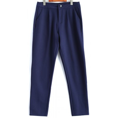 Plus Size Welt Pockets Pencil Pants